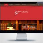 Criação de site para Lopes e Pereira Advogados